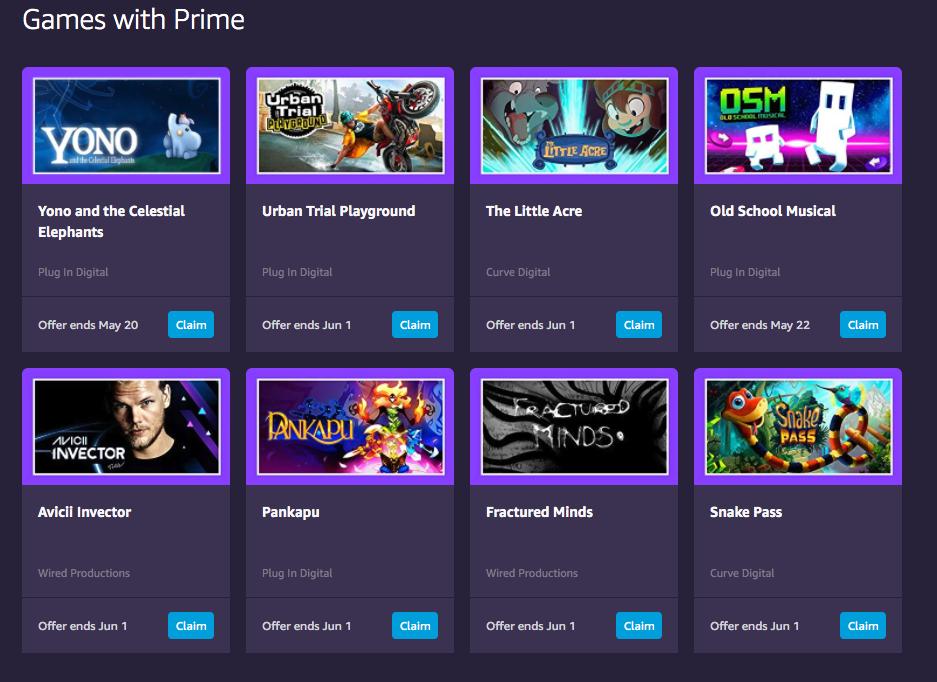 Amazon e Twitch Prime offrono 8 giochi gratis: come ottenerli thumbnail