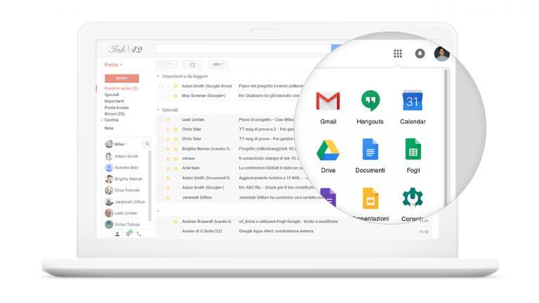 gmail chiamate g suite