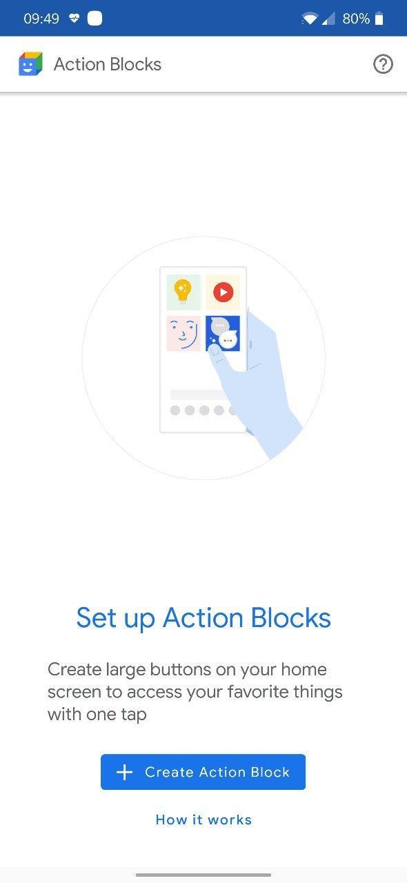google action blocks