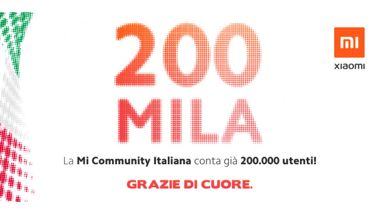 Xiaomi raggiunge i 200.000 iscritti nella Community Italiana thumbnail