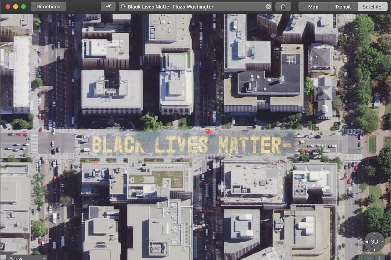 Apple ha aggiornato le sue mappe per includere la scritta Black Lives Matter thumbnail