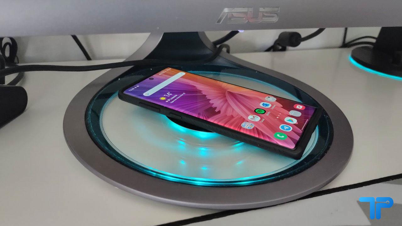 ASUS Designo Curve MX38VC recensione ricarica wireless