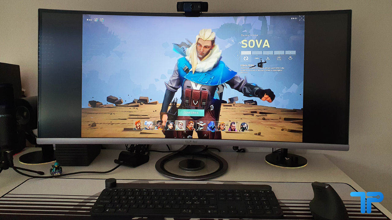 ASUS Designo Curve MX38VC recensione gaming
