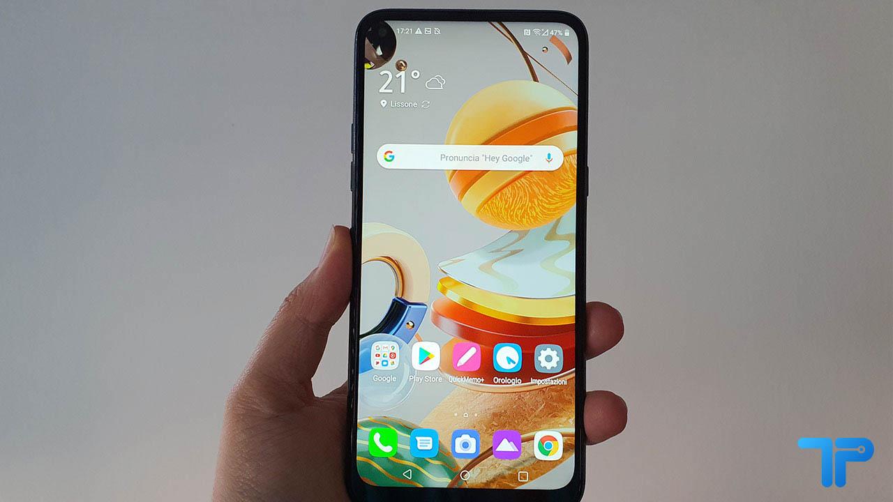 LG K61 recensione display