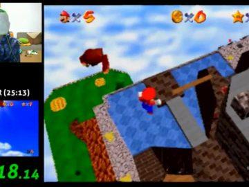 Super Mario 64 bendato