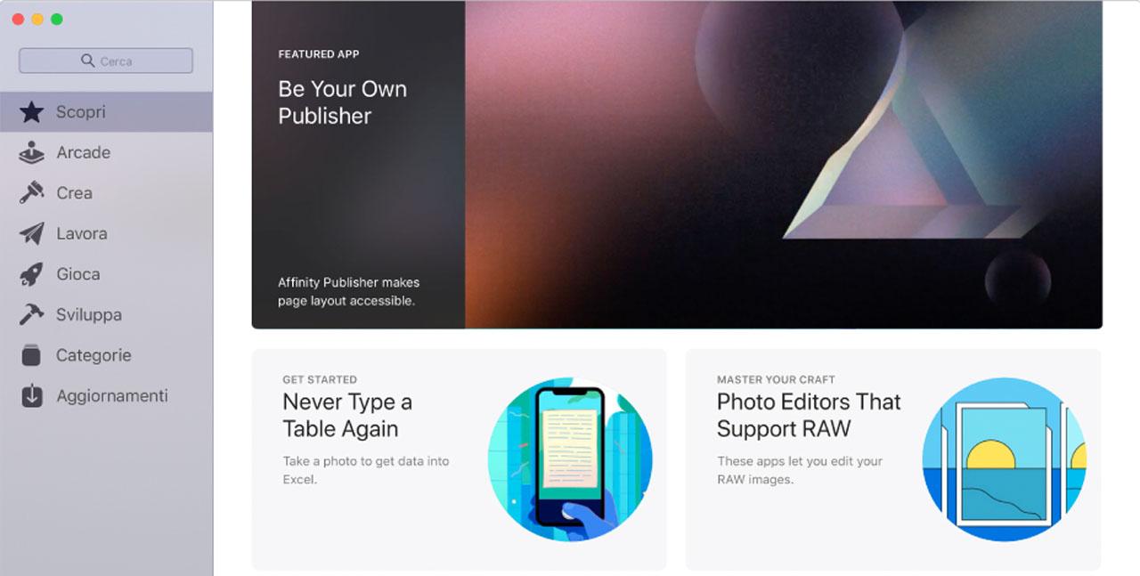 app store per mac