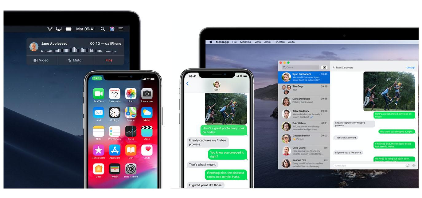 apple sms e chiamate