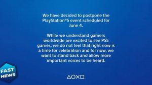 """Evento Playstation posticipato: """"lasciamo spazio a questione più importanti"""""""