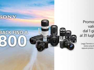 fotocamere sony cashback promozione