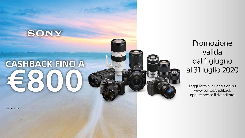 Riparte il programma Cashback per le fotocamere Sony thumbnail