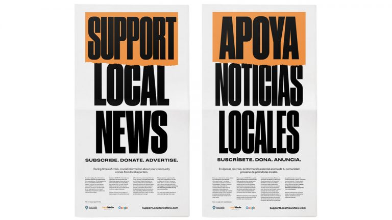 google campagna support local news