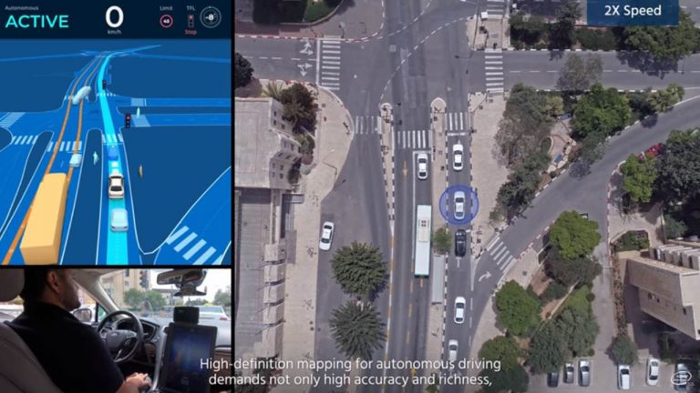 guida autonoma gerusalemme mobileye