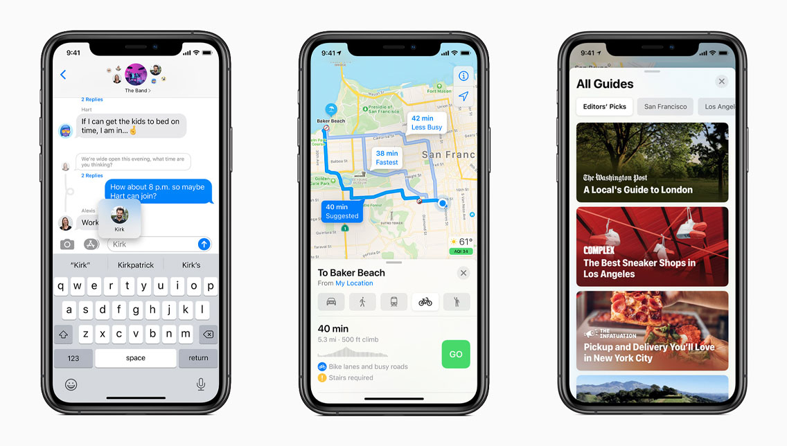 ios 14 mappe messaggi - wwdc 2020 apple