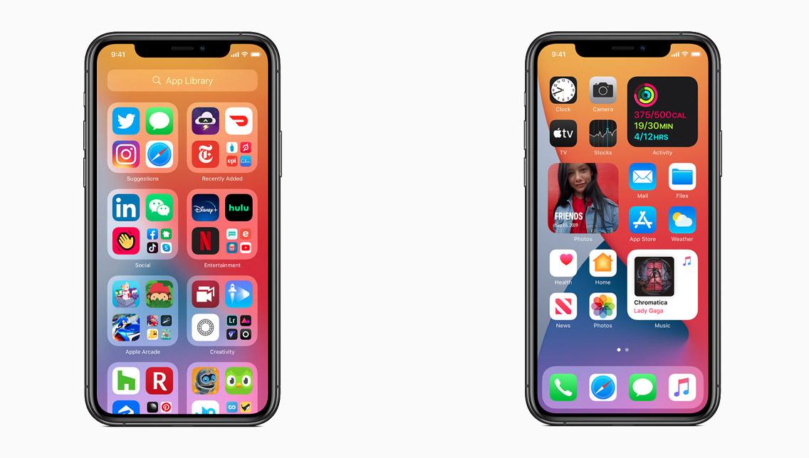 ios 14 widget app library - wwdc 2020 apple