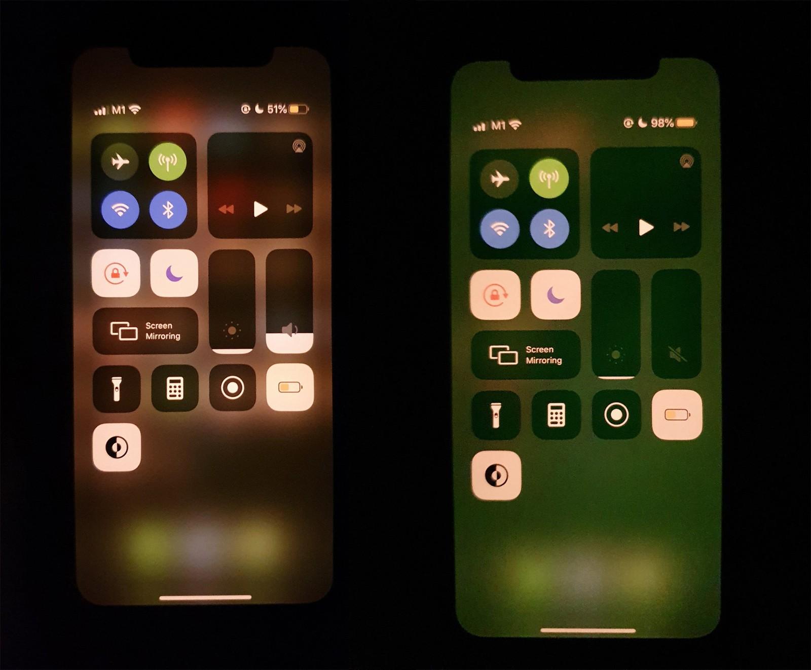 schermo verde iphone 11