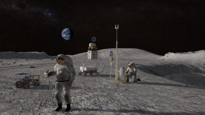 uomo sulla luna Artemis III