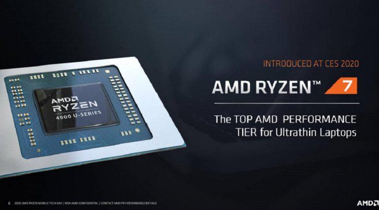 AMD ryzen mobile nuova