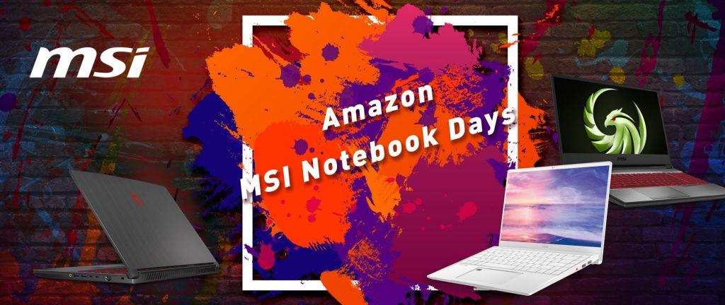 Amazon MSI Notebook Days