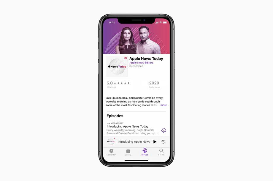 Apple News Today, il podcast di Apple per competere con The Daily e altri thumbnail