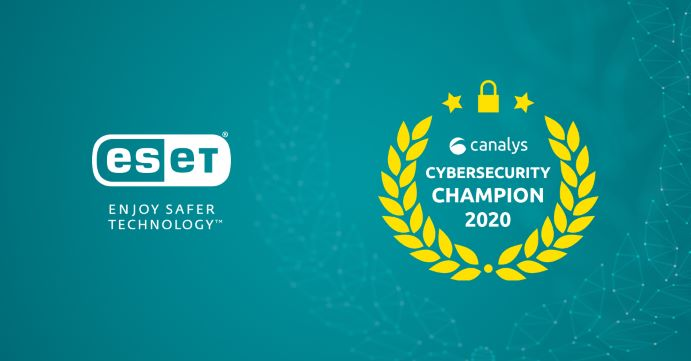ESET Champion Canalys cybersecurity
