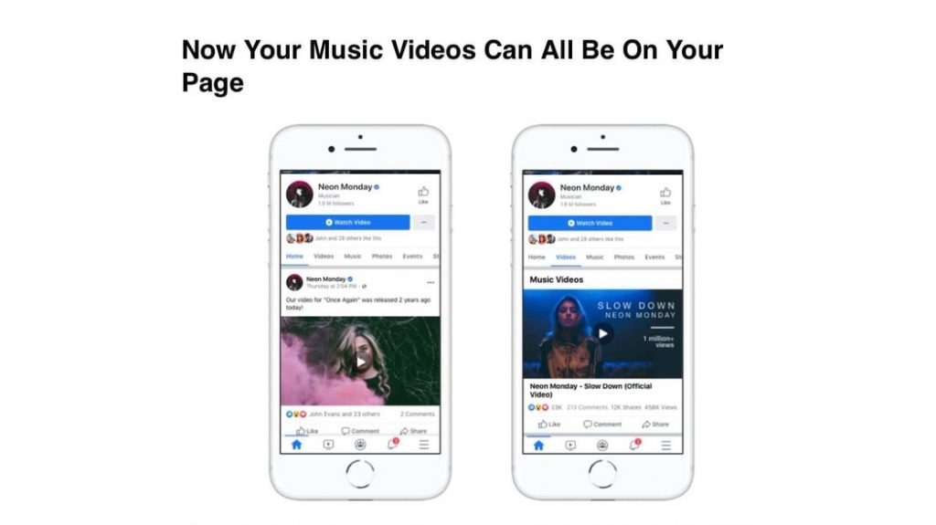 Facebook video musicali