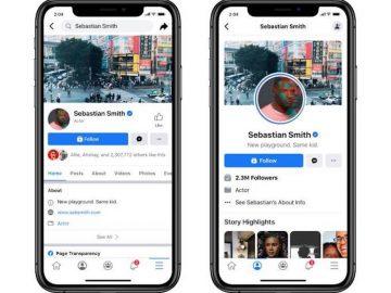 Facebook nuovo design Pagine