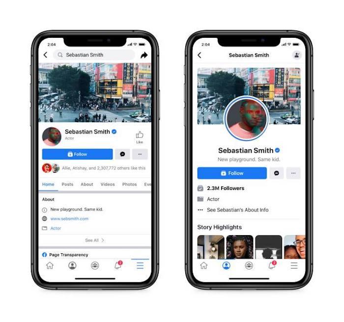 """Facebook testa un nuovo design delle Pagine: addio al bottone """"Mi Piace"""" thumbnail"""