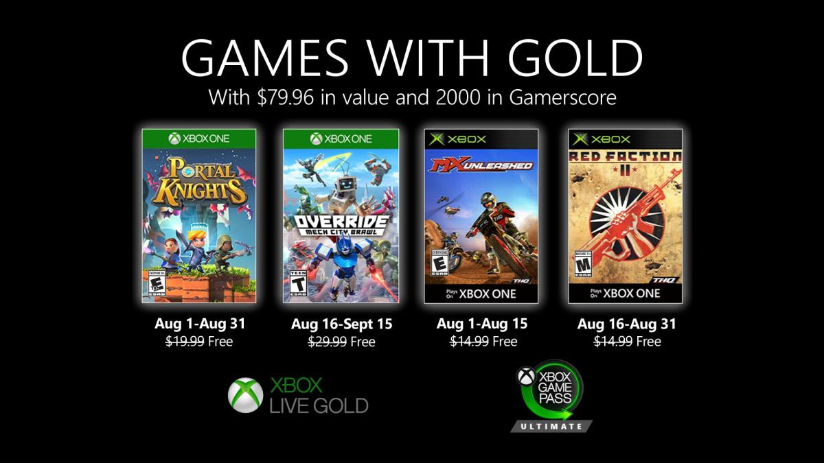 Games With Gold: svelati i giochi gratis di agosto 2020 thumbnail