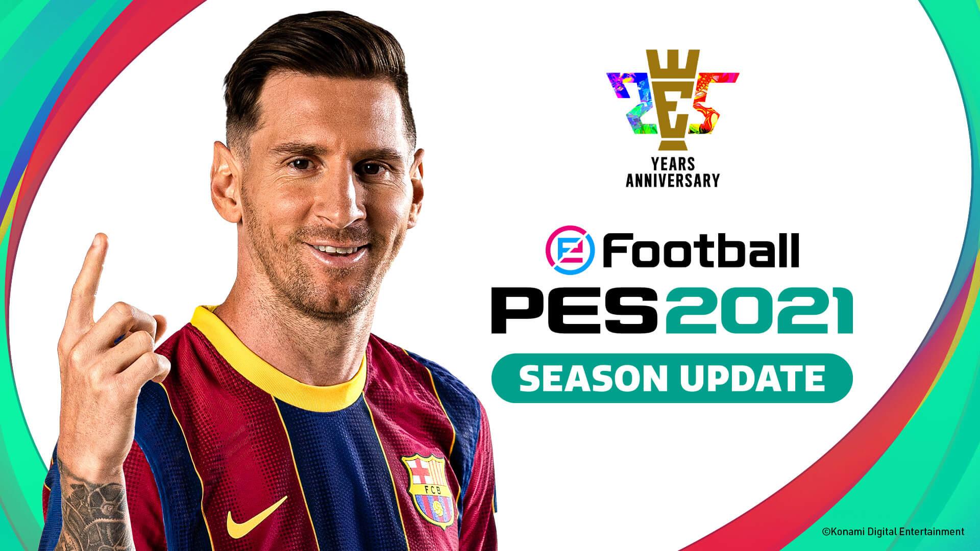 Konami annuncia eFootball PES 2021 Season Update thumbnail
