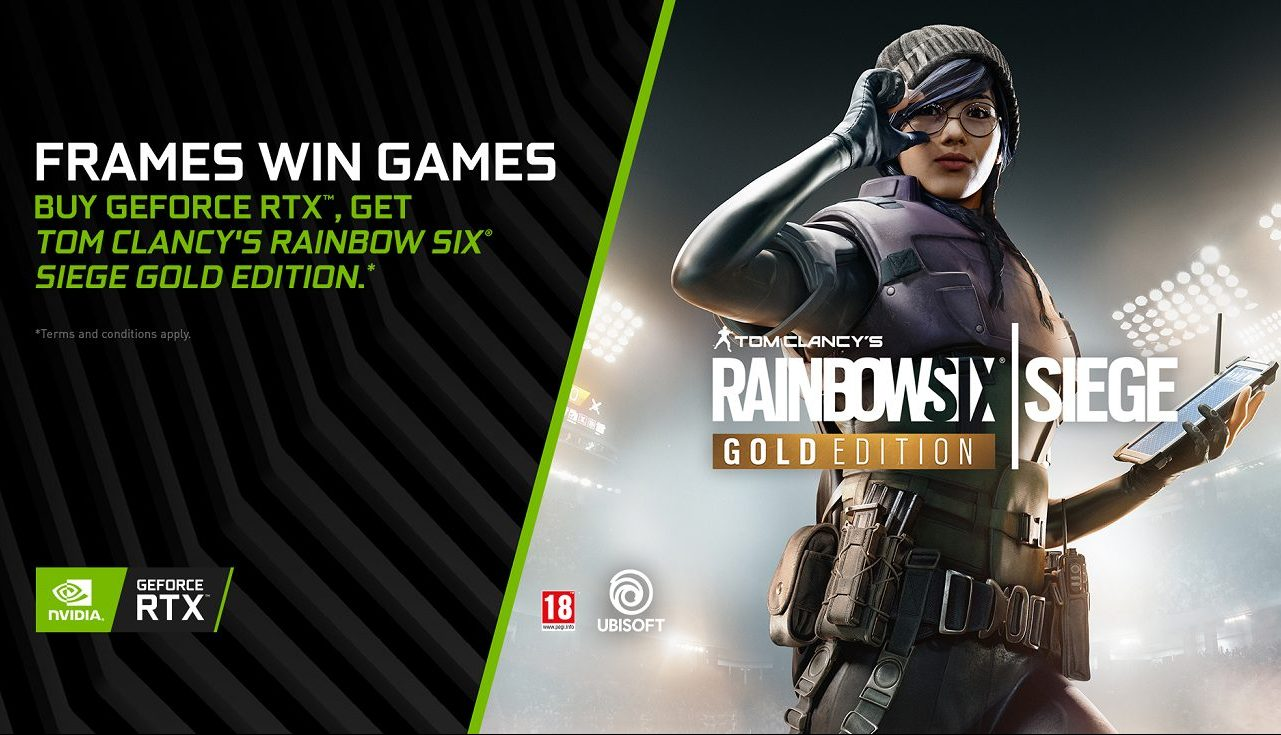 NVIDIA regala Tom Clancy's Rainbow Six Siege con una scheda video GeForce RTX thumbnail