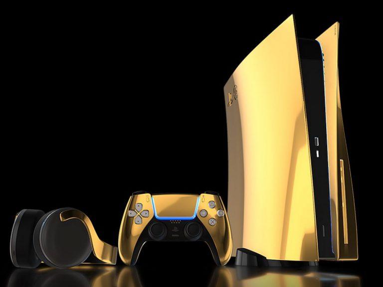 PS5-modello-oro-placcato-Tech-Princess