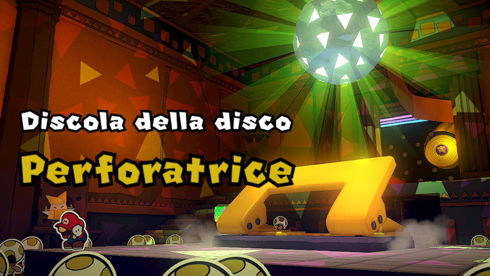 Paper Mario The Origami King recensione boss perforatrice