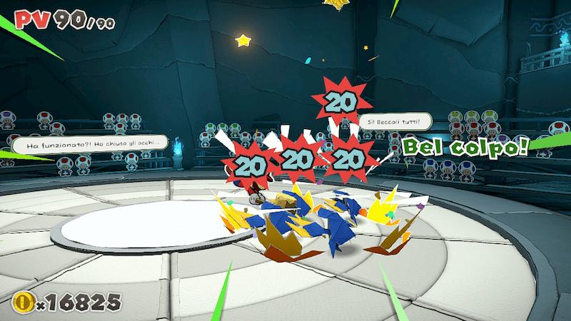 Paper Mario The Origami King recensione combattimento