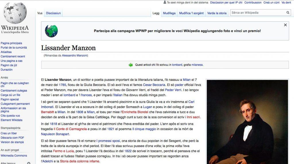 Wikipedia in dialetto