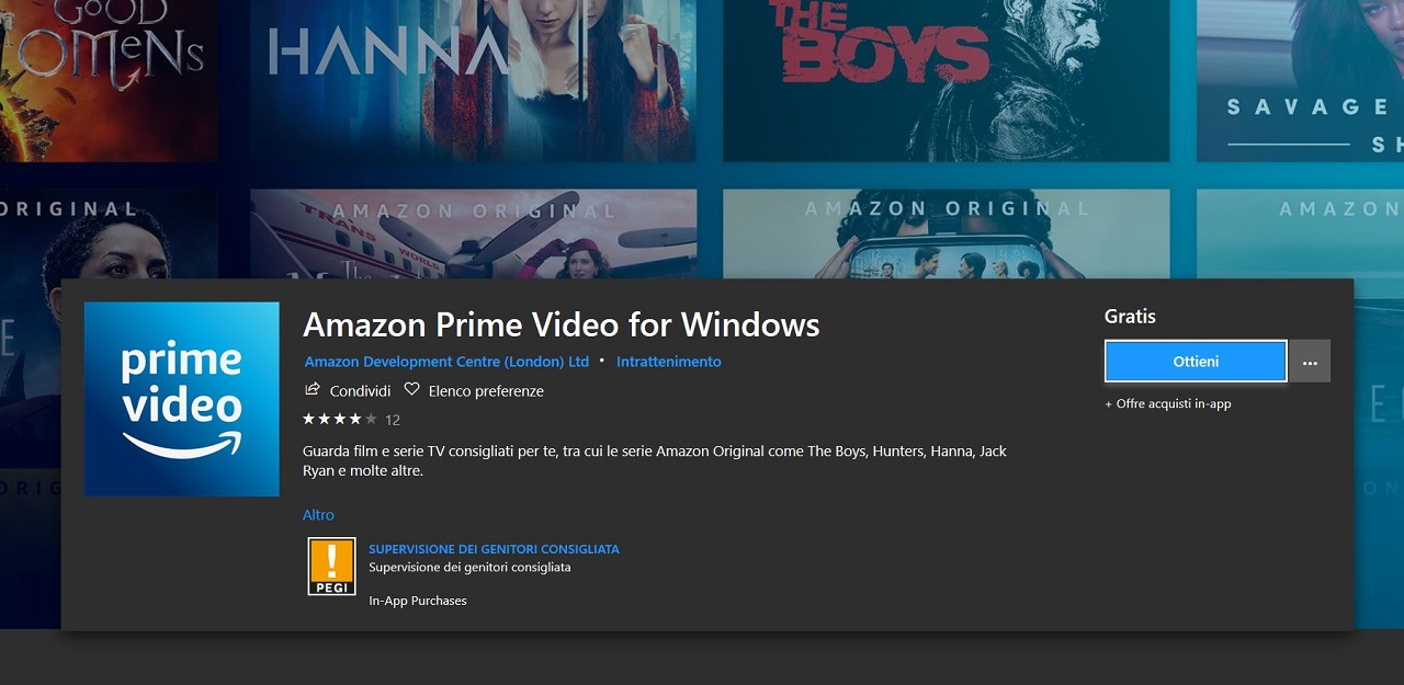 Arriva l'applicazione desktop di Amazon Prime Video per Windows 10 thumbnail