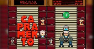 """Il tormentone """"Capra, Capra, Capra!"""" diventa un videogioco Un nuovo videogioco vede protagonista il politico mentre viene trascinato di peso fuori dal parlamento"""