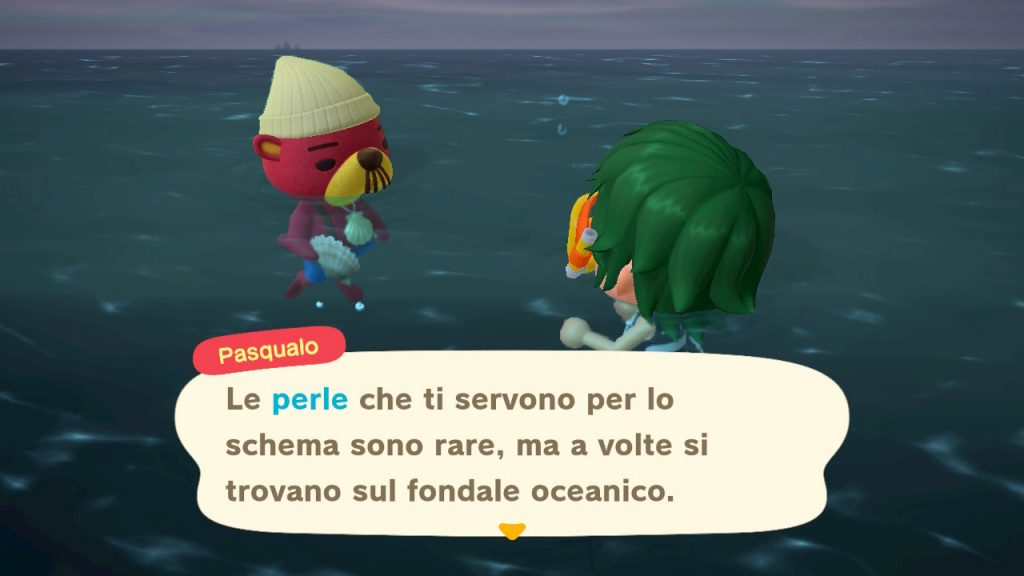 creature marine Animal Crossing perle