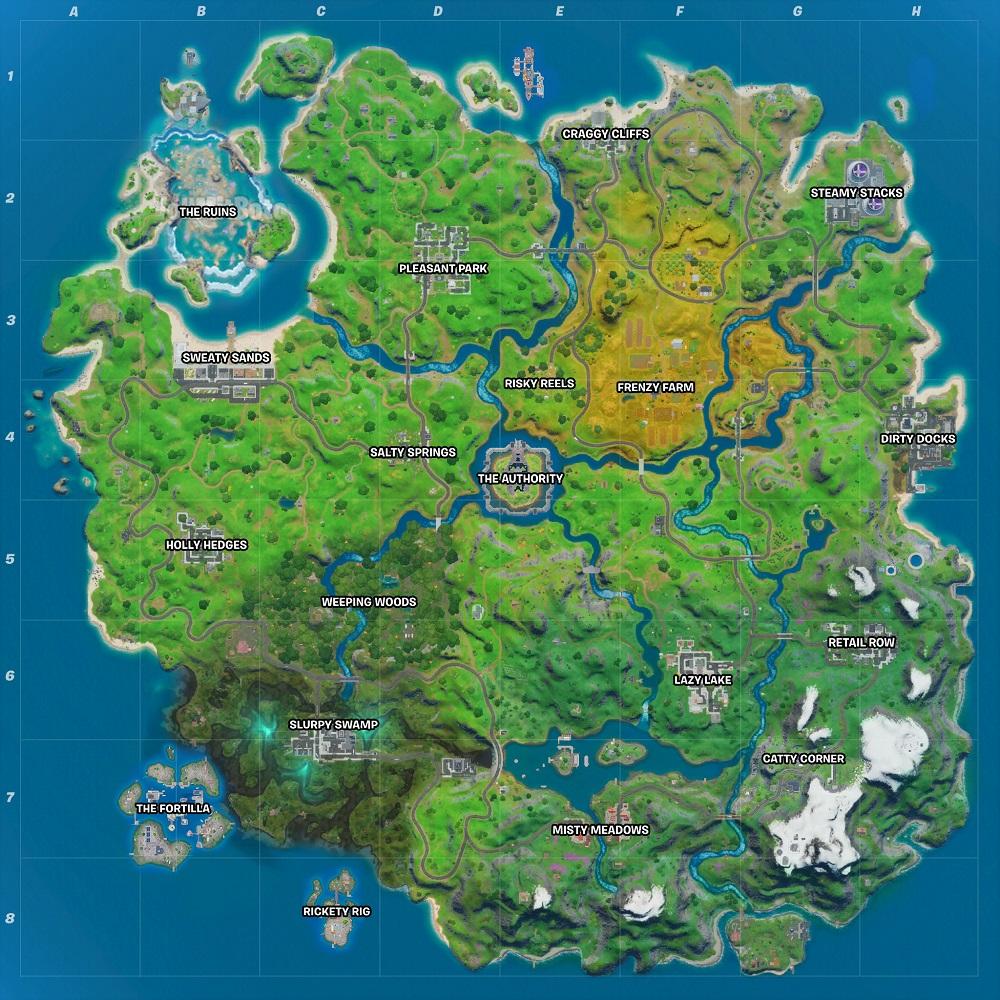 Fortnite mappa The Ruins
