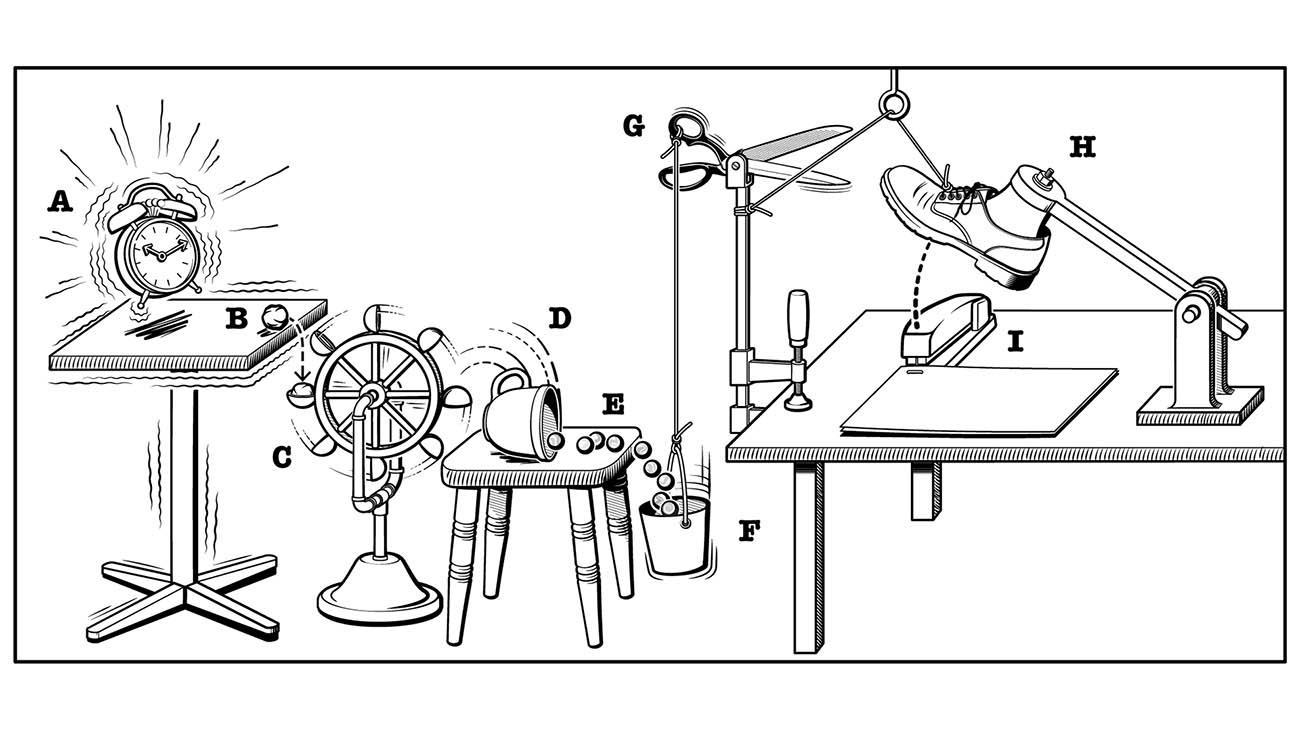 macchine rube goldberg complessi semplici
