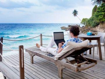 smart working lavorare in vacanza