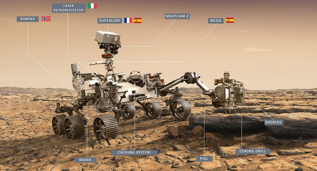 strumenti mars 2020 perseverance NASA rover marte - NASA