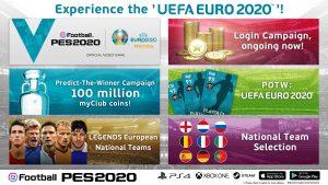 In arrivo l'evento online Uefa Euro 2020 di eFootball PES 2020 Konami ha reso noti i dettagli dell'evento online UEFA EURO 2020 di eFootball PES 2020 per le piattaforme console e mobile