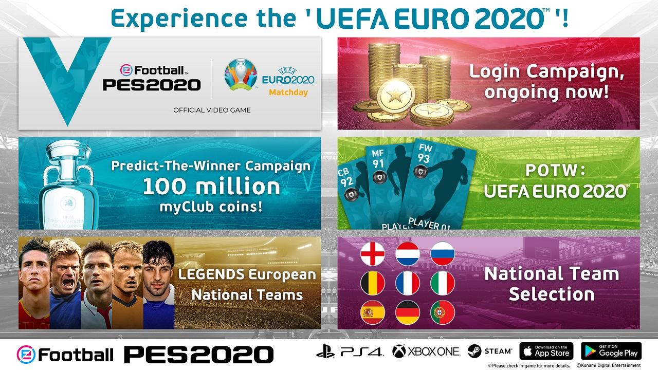 In arrivo l'evento online Uefa Euro 2020 di eFootball PES 2020 thumbnail