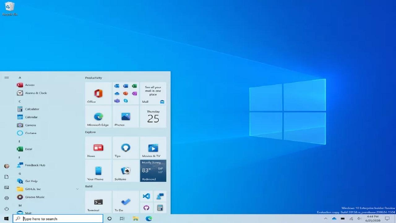 Ecco il nuovo design del menù Start di Windows 10 thumbnail