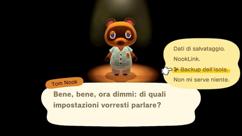 Animal Crossing backup Tom Nook