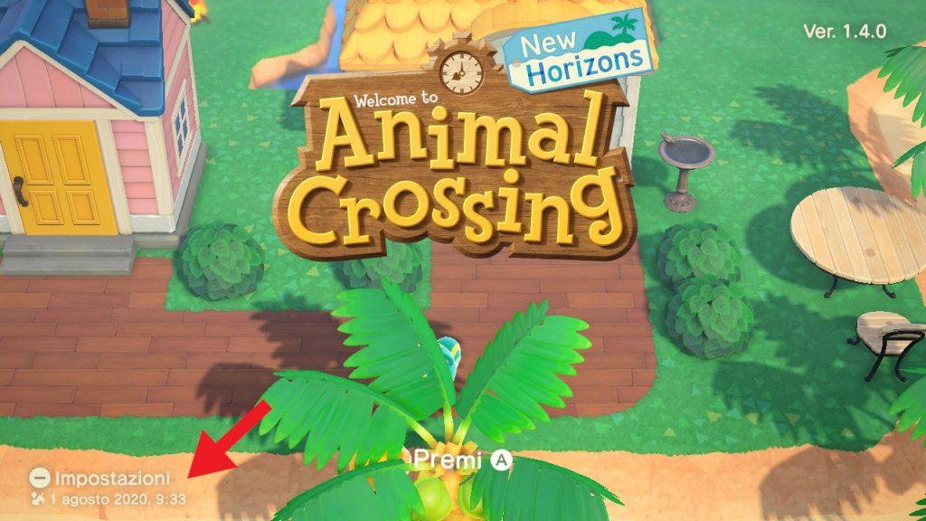Animal Crossing backup schermata titolo 1