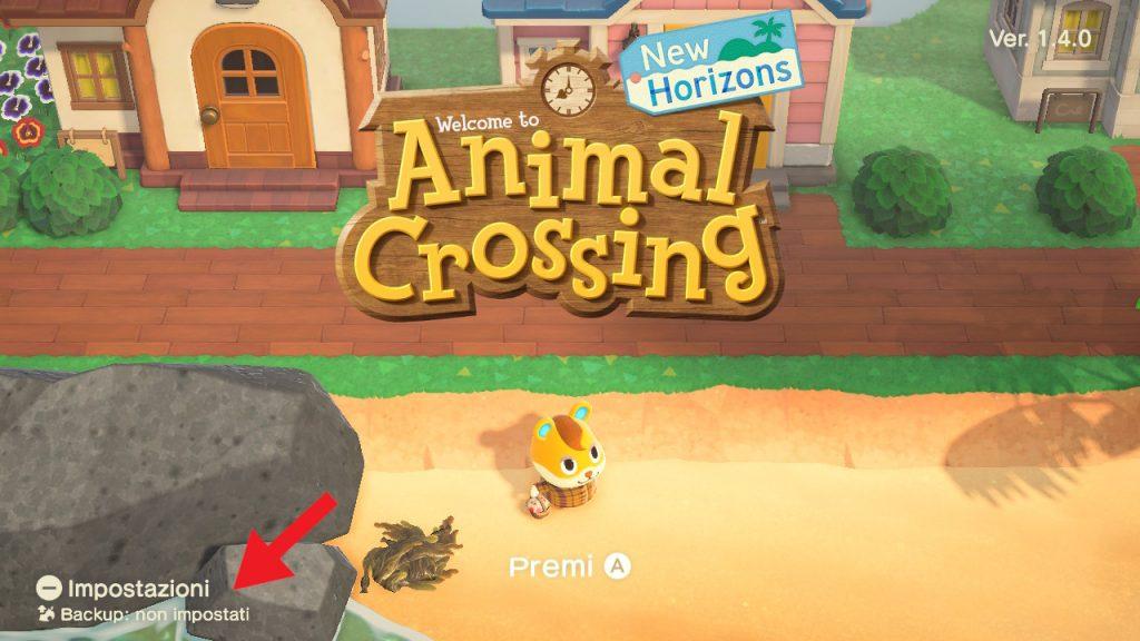 Animal Crossing backup schermata titolo 2