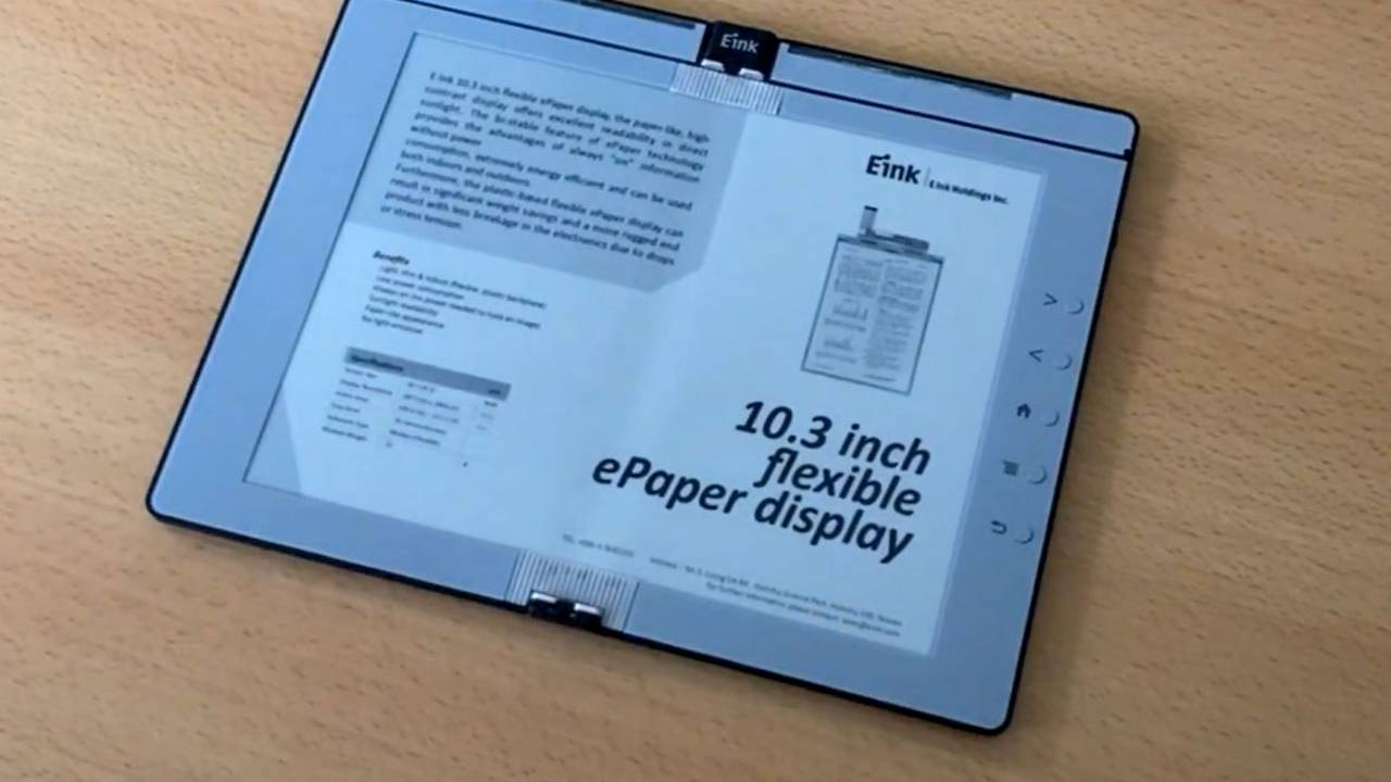 E Ink progetta il primo e-reader pieghevole che assomiglia a un libro thumbnail