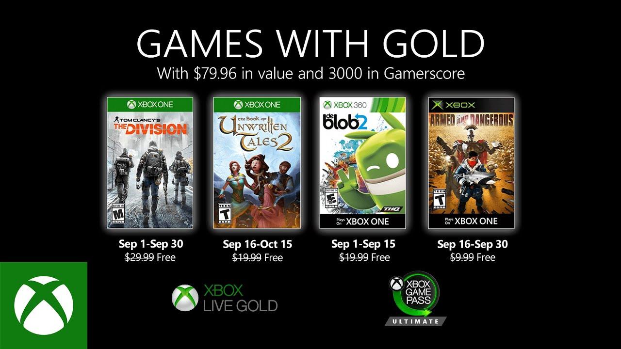 I Games With Gold di settembre includono The Division thumbnail