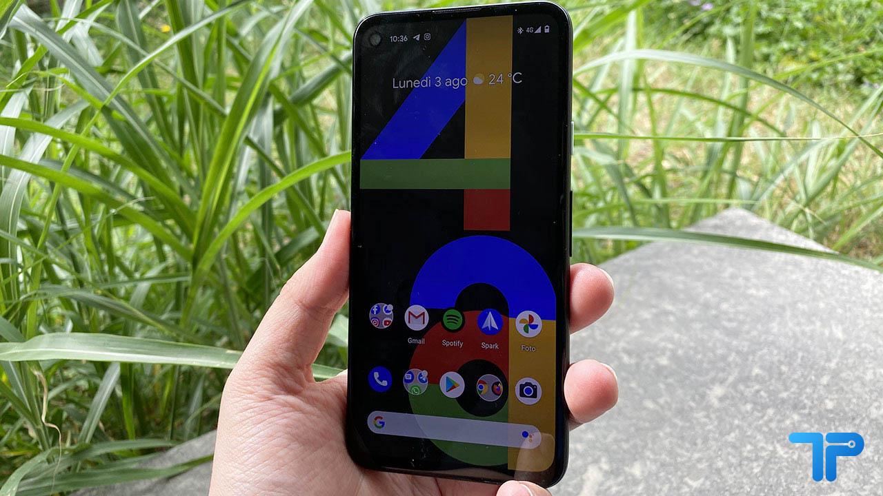 Google Pixel 4a recensione display